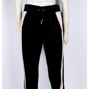 NWT Juicy Couture Black Lab Velour M Sweatpants.